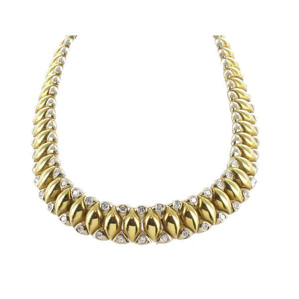 de60a3b04fac gargantilla-oro-diamantes - Losantos Joyeros