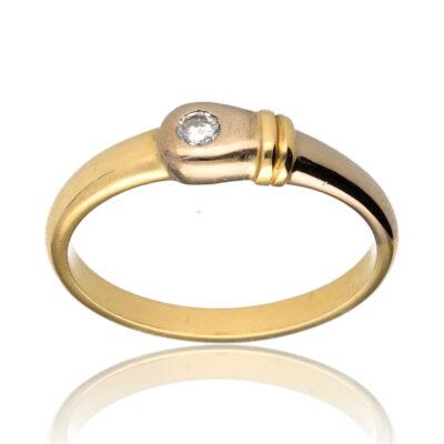 """Anillo """"Acoa"""" oro 1ª ley 18K con diamante"""