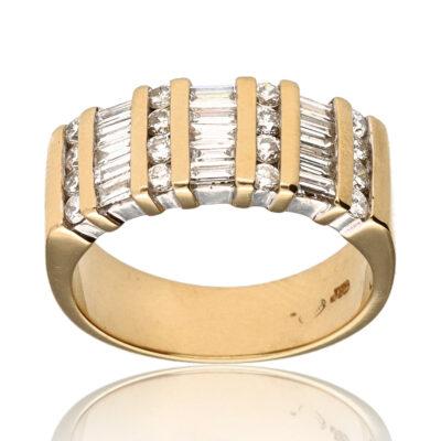 """Anillo """"Ireda"""" oro 1ª ley 18K con diamantes"""
