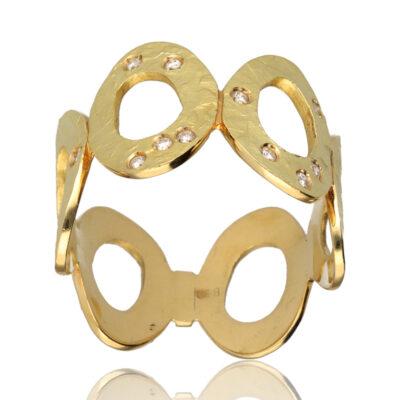 """Anillo """"Loras"""" oro 1ª ley 18K con diamantes"""