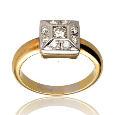 """Anillo """"Cuteas"""" oro 1ª ley 18K con diamantes"""
