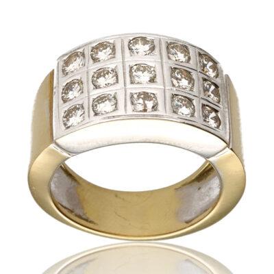 """Anillo """"Ecui"""" oro 1ª ley 18K con diamantes"""