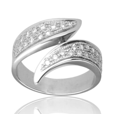 """Anillo """"Edana"""" oro blanco 1ª ley 18K con diamantes"""