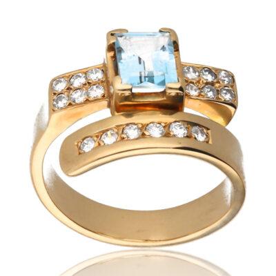 """Anillo """"Oalnar"""" oro 1ª ley 18K con diamantes"""
