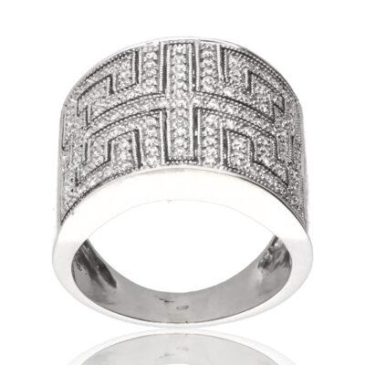 """Anillo """"Isalden"""" oro blanco 1ª ley 18K con diamantes"""