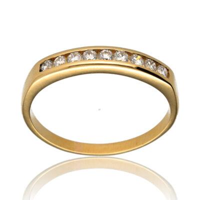 """Anillo """"Adaya"""" oro 1ª ley 18K con diamantes"""