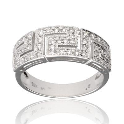 """Anillo """"Finu"""" oro blanco 1ª ley 18K con diamantes"""