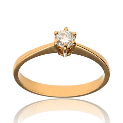 """Anillo """"Biso"""" oro 1ª ley 18K con diamante"""