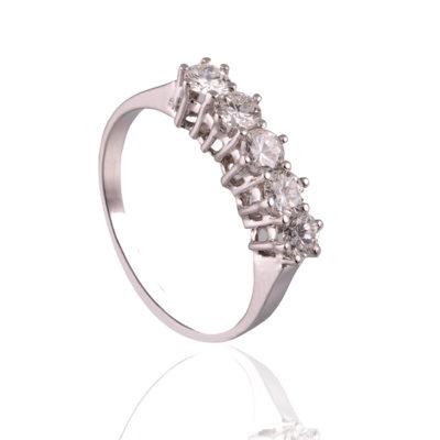 Anillo con diamantes en oro 18kt de primera ley