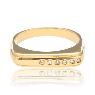 """Anillo """"Yiru"""" oro 1ª ley 18K con diamantes"""