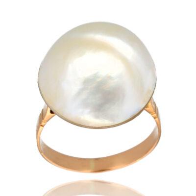 "Anillo ""Liolua"" oro 1ª ley 18K con perla cultivada"