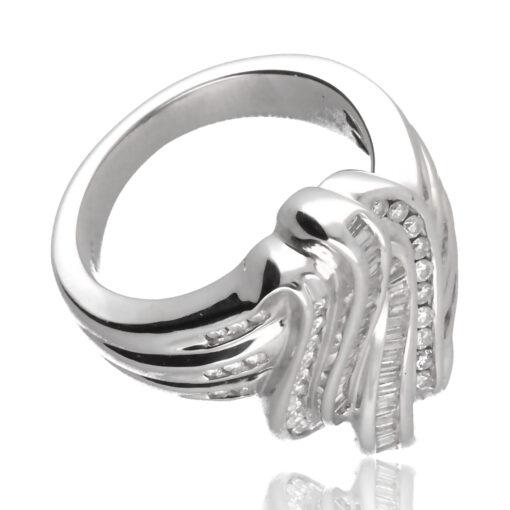 """Anillo """"Olal"""" oro blanco 1ª ley 18K con diamantes"""