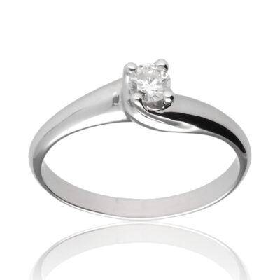 """Anillo """"Buri"""" oro blanco 1ª ley 18K con diamante"""