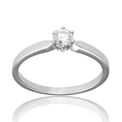"""Anillo """"Aucao"""" oro blanco 1ª ley 18K con diamante"""