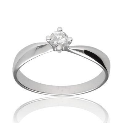 """Anillo """"Aucalli"""" oro blanco 1ª ley 18K con diamante"""