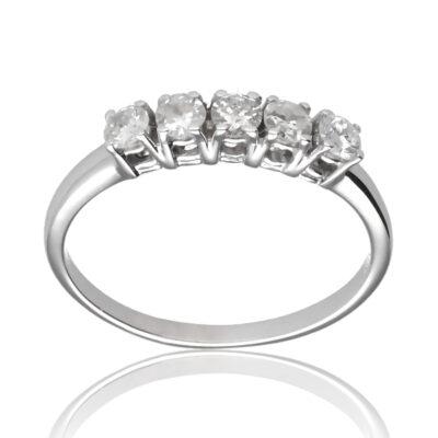 """Anillo """"Agodra"""" oro blanco 1ª ley 18K con diamantes"""