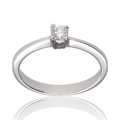 """Anillo """"Nevona"""" oro blanco 1ª ley 18K con diamante"""