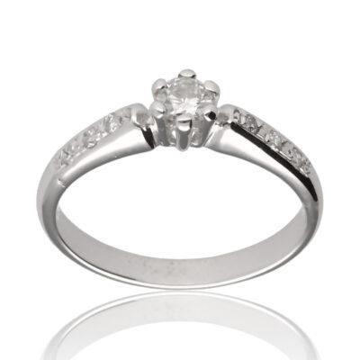 """Anillo """"Jurnis"""" oro blanco 1ª ley 18K con diamantes"""