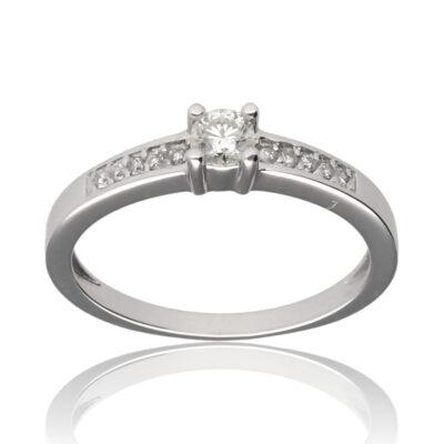 """Anillo """"Lenur"""" oro blanco 1ª ley 18K con diamantes"""