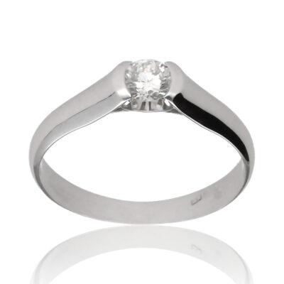 """Anillo """"Neyan"""" oro blanco 1ª ley 18K con diamante"""