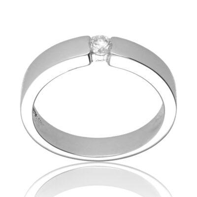 """Anillo """"Earisa"""" oro blanco 1ª ley 18K con diamante"""