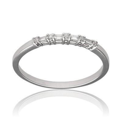 "Anillo ""Achorris"" oro blanco 1ª ley 18K con diamantes"
