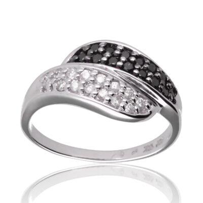 """Anillo """"Desea"""" oro blanco 1ª ley 18K con diamantes"""
