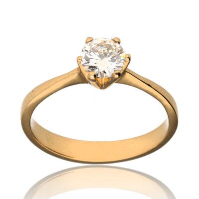 """Anillo """"Itra"""" oro 1ª ley 18K con diamante"""
