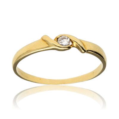 """Anillo """"Uidu"""" oro 1ª ley 18K con diamante"""