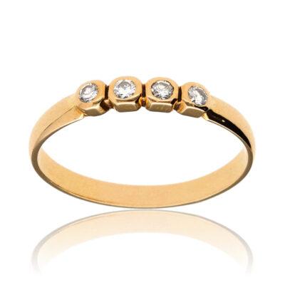 """Anillo """"Heru"""" oro 1ª ley 18K con diamantes"""