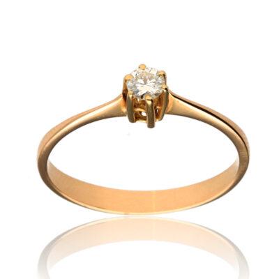 "Anillo ""Esisa"" oro 1ª ley 18K con diamante"