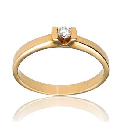 """Anillo """"Aufi"""" oro 1ª ley 18K con diamante"""