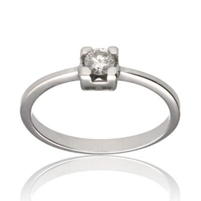 """Anillo """"Auldor"""" oro blanco 1ª ley 18K con diamante"""