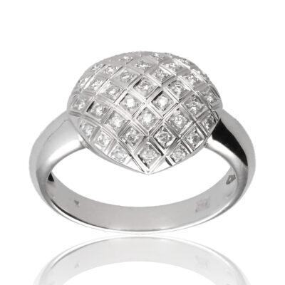 """Anillo """"Jaciar"""" oro blanco 1ª ley 18K con diamantes"""