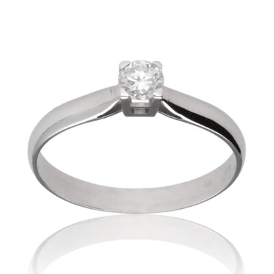 "Anillo ""Oavas"" oro blanco 1ª ley 18K con diamante"