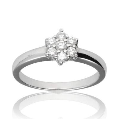 """Anillo """"Eadel"""" oro blanco 1ª ley 18K con diamantes"""