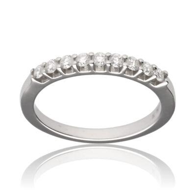 """Anillo """"Roho"""" oro blanco 1ª ley 18K con diamantes"""